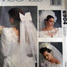 M6904 Sewing Pattern Wedding Veil Headpiece Bridesmaids 9 Variations