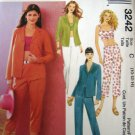 M3242 Sewing Pattern Crop Top Pant Capri Jacket Size 10 12 14