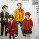 M7844 Sewing Pattern Child Girl Skirt Pant Jacket Hat Size 4 5 6