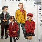 M7844 Sewing Pattern Child Girl Skirt Pant Jacket Hat Size 4 5 6