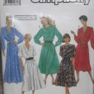S9951 Sewing Pattern Dress 6 8 10 Sleeve Hem Neck Variations Career Work Special Occasion