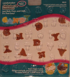 New Candymaker Make 'N Mold Alphabet & Numbers to make Personalized Treats