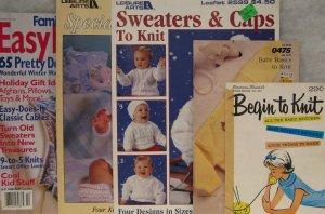 Baby Knitting Pattern Leaflet & Magazine Assortment