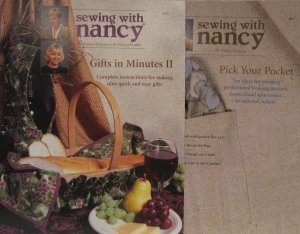 Sewing with Nancy Pattern Leaflet Set Pick Your Pocket & Gifts in Minutes II