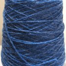 Blue Sparkle Knitting Machine or Hand Crochet Cone Yarn Thread Acrylic Fingering or Lace Weight