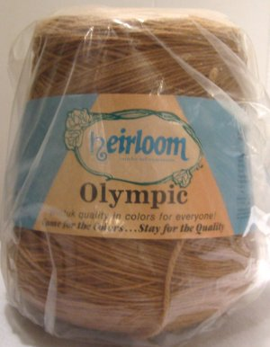 Khaki Tan Acrylic Knitting Machine or Hand Crochet Cone Yarn Thread Fingering or Lace Weight