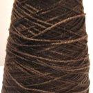 Walnut Brown Acrylic Knitting Machine or Hand Crochet Cone Yarn Thread Fingering or Lace Weight