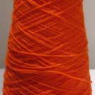 Tangerine Acrylic Knitting Machine or Hand Crochet Cone Yarn Thread Fingering or Lace Weight