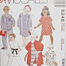 M6246 Sewing Pattern Child Girl Boy Top Short Sleepwear sz 2 3 4