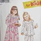 S9296 Sewing Pattern Child Girl Dress Nightgown Pajamas sz 3 4 5 6 7 8