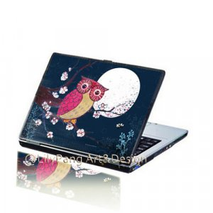 Moonlight Owl Customizable Laptop Skin