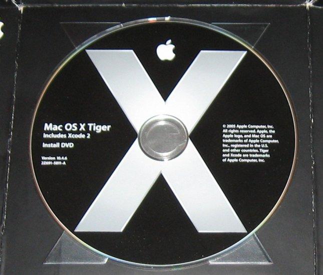 Apple Tiger 10.4 Retail DVD