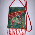 Red and Green Cell Phone Pouch