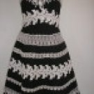 Women Dress, Cotton Black White Lace, size 8