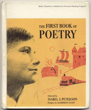 FIRST BOOK OF POETRY Poems KIDS CHILDREN Peterson HB
