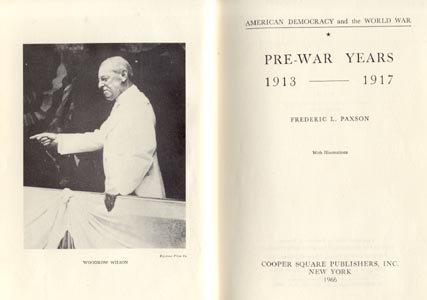 American U.S. United States Democracy & WWI PRE-WAR YEARS 1913-1917 HB
