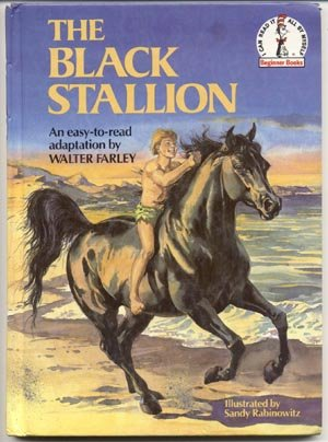 BLACK STALLION Walter Farley HORSE STORY Early Easy Basic Reader I CAN READ 1*HB