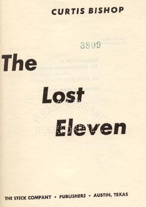 Lost Eleven COLLEGE FOOTBALL ALUMNI Curtis Bishop HB