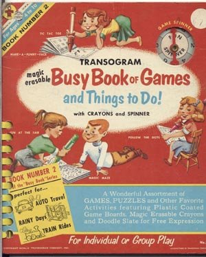 BUSY BOOK OF GAMES Transogram Toy Company RARE 1959