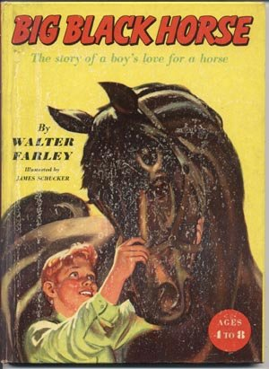 Big Black Stallion HORSE~Early Reader~Walter Farley~HB
