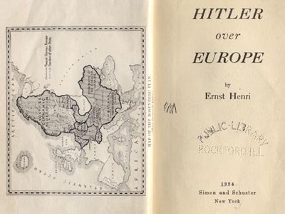 Hitler Over Europe WWII Nazi Germany ERNST HENRI Goering 1*HB