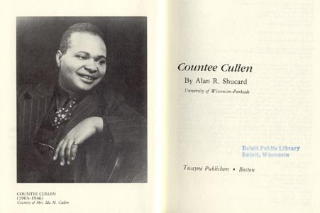 COUNTEE CULLEN~Negro Poet~HARLEM RENAISSANCE~Biography