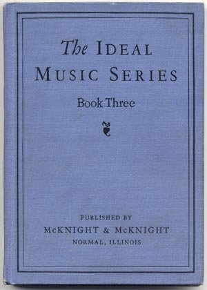 Ideal Music Series Book 3 Three ANTIQUE Vocal Sight Reading MCKNIGHT F.W. Westhoff 1927 HB