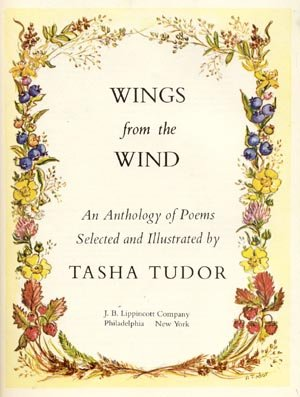 Wings from the Wind KID POETRY Poems EDWARD LEAR Walter De La Mare TASHA TUDOR HB