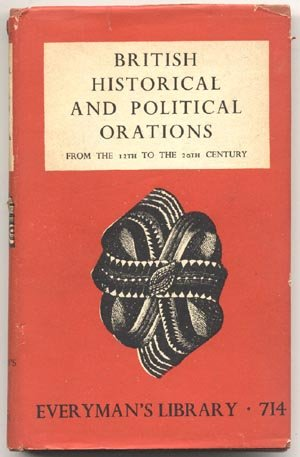 English BRITISH HISTORICAL & POLITICAL ORATIONS Parliament QUEEN ELIZABETH Speeches DJ