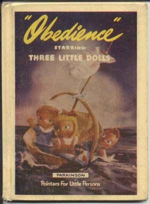 Obedience THREE LITTLE Antique DOLLS Virginia Parkinson Claytoon Claymation Series HB