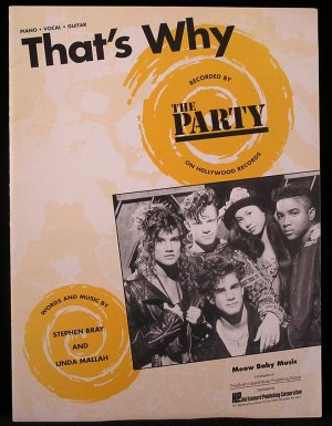 That's Why THE PARTY SONGBOOK Guitar Piano Vocal Lyrics Sheet Music