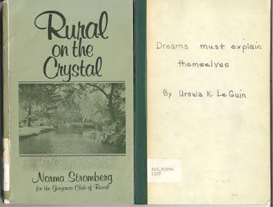 DREAMS MUST EXPLAIN THEMSELVES Ursula Le Guin RARE ACCEPTANCE SPEECH ++