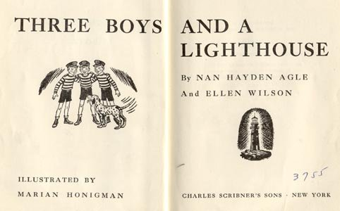 THREE BOYS & LIGHTHOUSE Triplets Story BROTHERS Nan Agle & Ellen Wilson HB