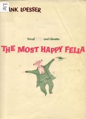 MOST HAPPY FELLA Vocal Score SHEET MUSIC Libretto SONGBOOK Frank Loesser