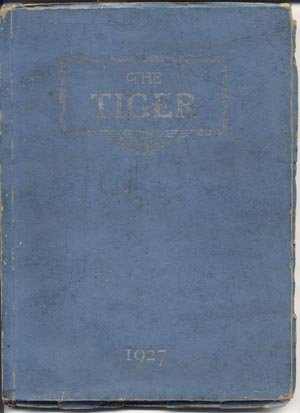 THE TIGER Princeton IL Illinois High School Yearbook 1927 RARE Photo Album
