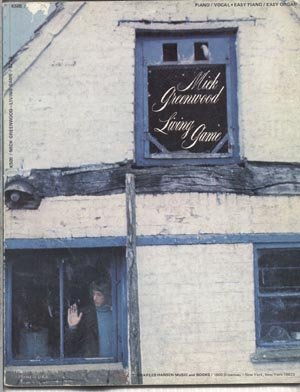 MICK GREENWOOD Living Game Songbook PIANO Organ Sheeet Music VOCALS Lyrics