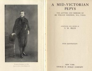 Mid Victorian Pepys Sir William Hardman Newspaper Man BARRISTER Journalist LONDON ENGLAND 1923 HB