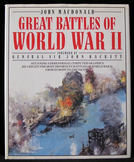 GREAT Battles of World War II WWII 3D 3-D Europe to Pacific COLOR MAPS John MacDonald 1st DJ