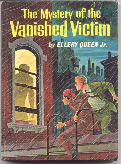 Mystery of the Vanished Victim SERIES Ellery Queen Jr 1st EDITION Picture Cover HB