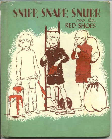 Snipp Snapp Snurr and the Red Shoes SWEDISH TRIPLETS Sweden KID STORY Maj Lindman 1962 HB