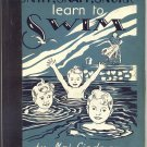Snipp , Snapp , Snurr Learn To Swim SWEDISH TRIPLETS Sweden KID STORY Maj Lindman 1954 1st HB
