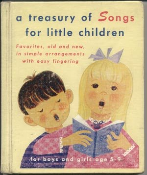 Treasury of Songs for Little Children KID SONGBOOK Esther Botwin URBANOWICH Vintage FOLK Christmas