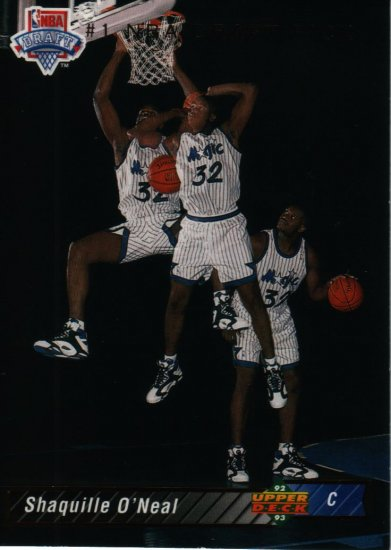 Shaquille O'Neal 1992-93 Upper Deck Rookie Basketball Card,cards