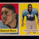 1957 Topps Roosevelt Brown #11 Giants Football Card, cards