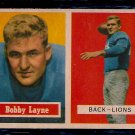 1957 Topps Bobby Layne #32 Lions Football Card, cards
