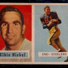 1957 Topps Elbie Nickel #101 Steelers Football Card, cards