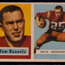 1957 Topps Tom Runnels #110 Redskins Football Rookie Card, cards
