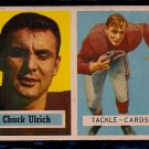 1957 Topps Chuck Ulrich #136 Cardinals Football Card, cards