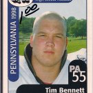 Big 33 Pennsylvania 1998 Tim Bennett Football Card, cards