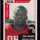 Big 33 Ohio 1998 Cie Grant Football Card, cards
